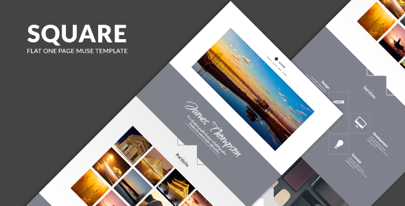 Square - One Page Muse Template - Creative Muse Templates