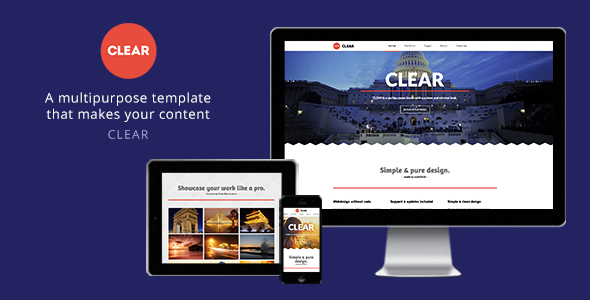 Clear - Multipurpose Muse Template - Corporate Muse Templates