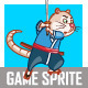 Samurai Rat Game Sprite - GraphicRiver Item for Sale