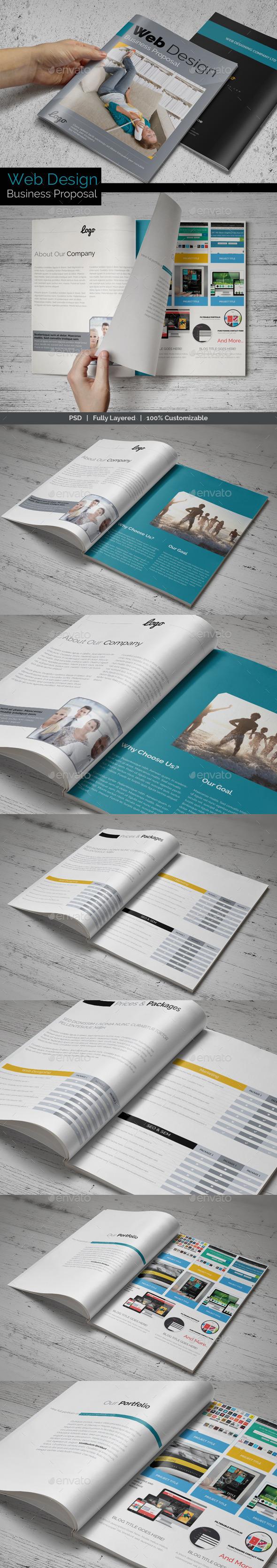 GraphicRiver Web Design Business Proposal 8893295