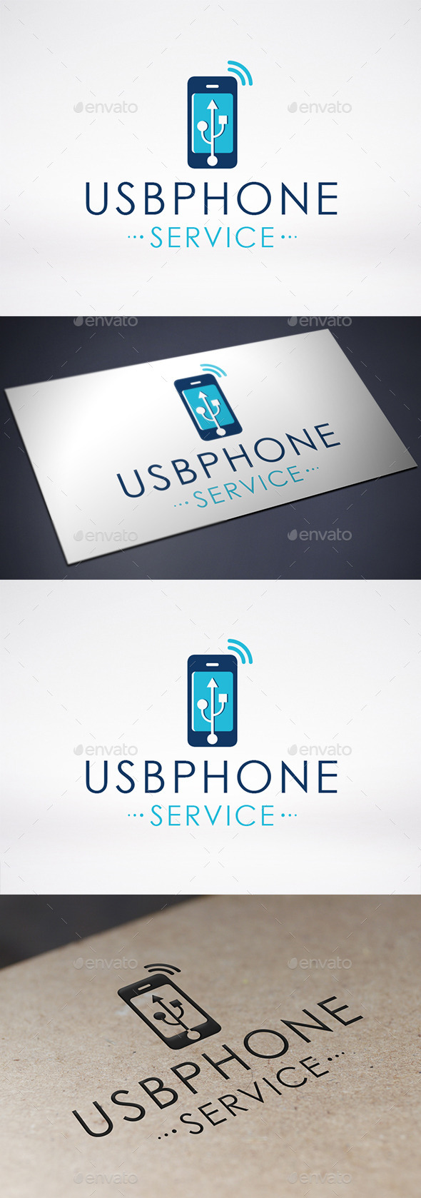 GraphicRiver Usb Phone Logo Template 8893312