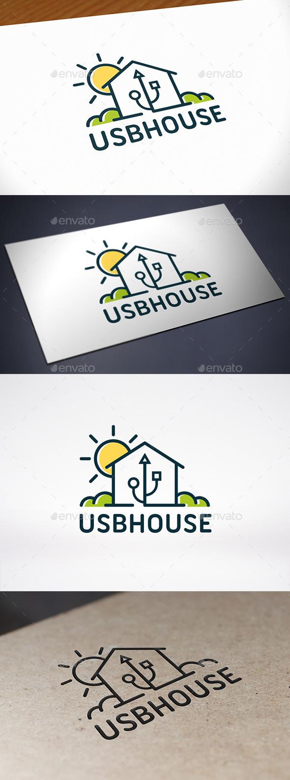 GraphicRiver Tech House Logo Template 8893462