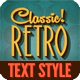 Retro Text Effects Classic American Vintage  - GraphicRiver Item for Sale