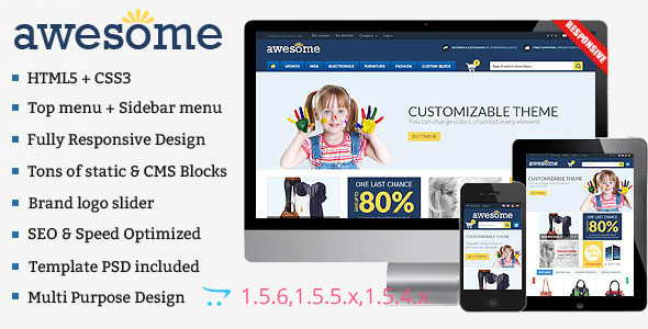 ThemeForest Awesome Responsive Multipurpose OpenCart Theme 8851116