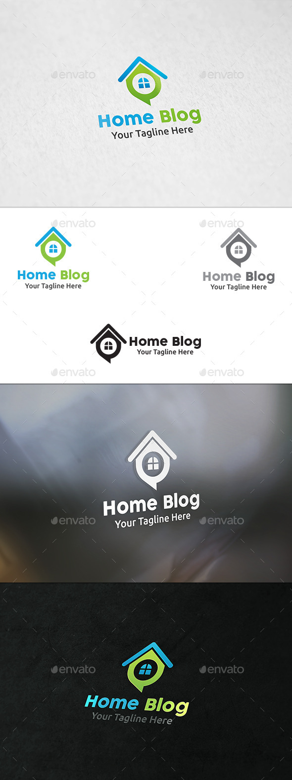 GraphicRiver Home Talk Logo Template 8893929
