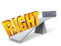 Right Weighs In Against Wrong - PhotoDune Item for Sale