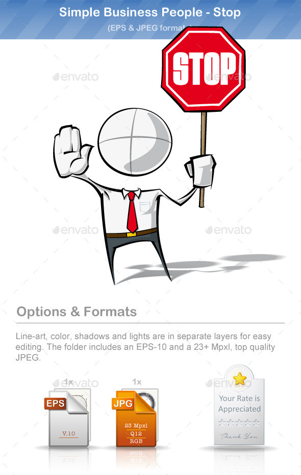 GraphicRiver Simple Business People Stop 8893997