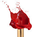 Red lipstick with splash of paint isolated - PhotoDune Item for Sale