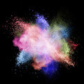 Color powder explosion isolated on black - PhotoDune Item for Sale