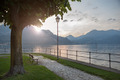 View of Como lake on sunset in Bellagio, Italy - PhotoDune Item for Sale