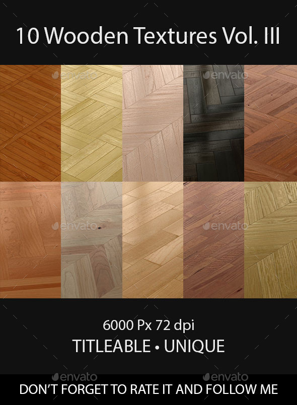 10 Wooden Floor Tileable Texture Vol III