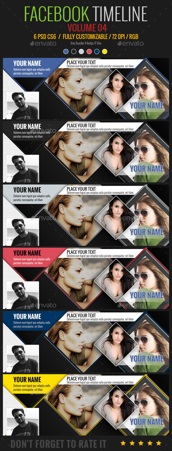GraphicRiver Facebook Timeline 8894215