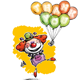 Clown with Balloons Saying Thank You - GraphicRiver Item for Sale