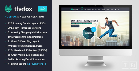 ThemeForest TheFox Multi-Purpose PSD Template 8894353