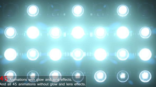 Wall of Lights Lights Flashing Spotlight Blue VJ