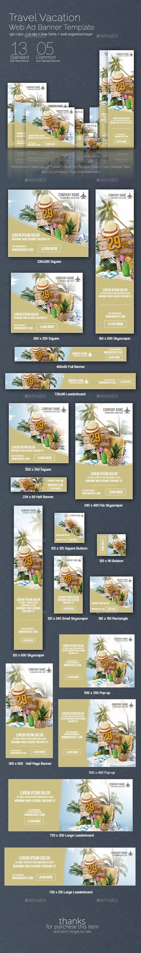GraphicRiver Travel Vacation Web Ad Banner 8894403