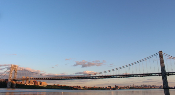 George Washington Bridge and NYC at Sunset