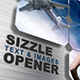 Sizzle Opener - Text and Images - VideoHive Item for Sale
