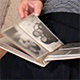 Sad Grandma Looking Photo Album with Old Pictures - VideoHive Item for Sale