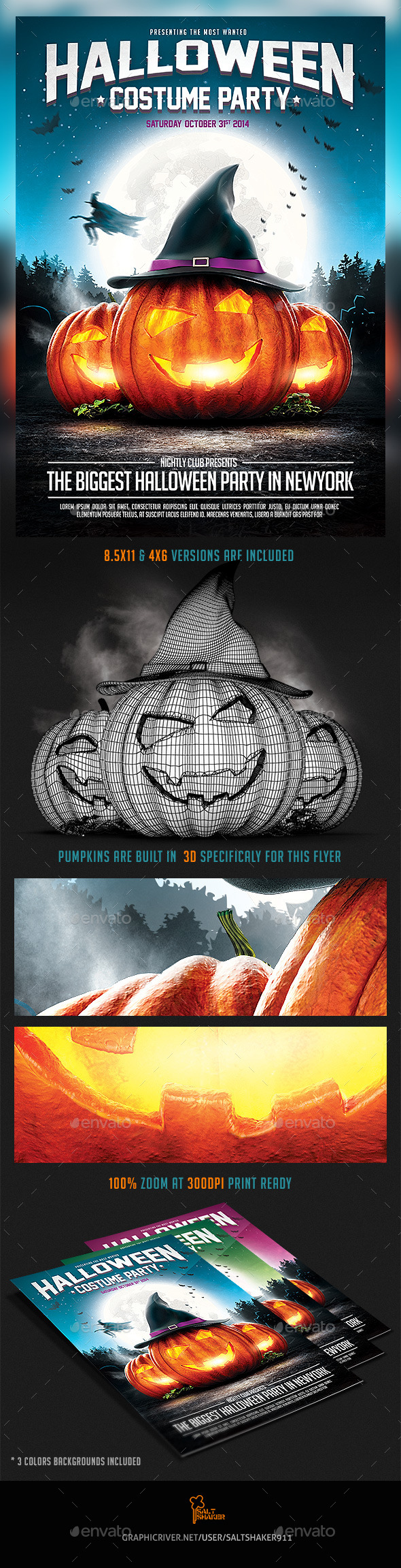 GraphicRiver Halloween Party Flyer v.2 8894920