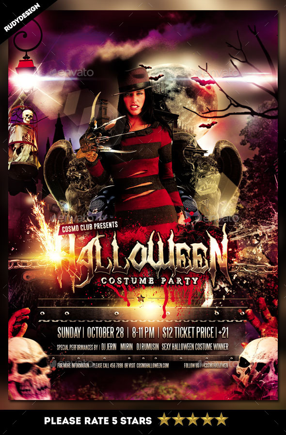 GraphicRiver Halloween Costume Party Flyer Template 8894938