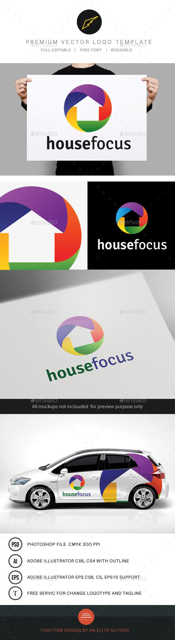 House Focus Logo  - Buildings Logo Templates