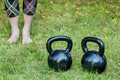 kettlebells - backyard fitness - PhotoDune Item for Sale