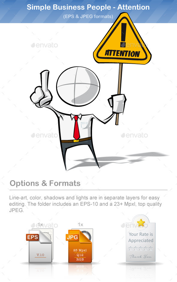 GraphicRiver Simple Business People Attention 8895170