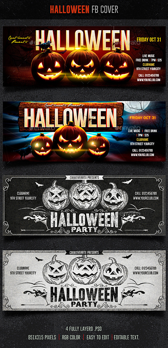 GraphicRiver Halloween FB Cover 8895297