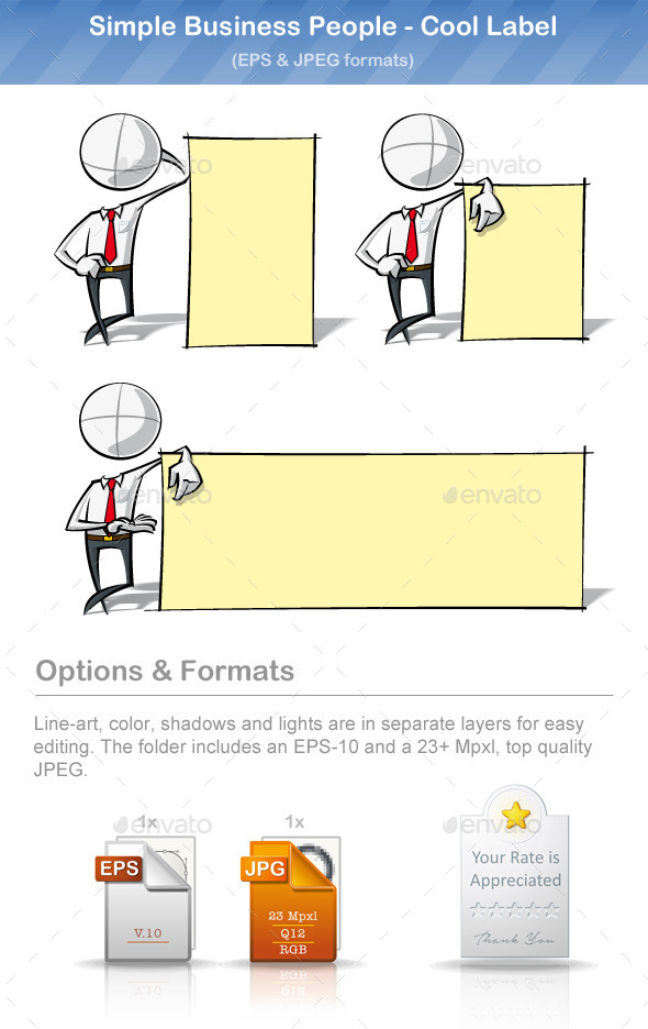 GraphicRiver Simple Business People Cool Label 8895359