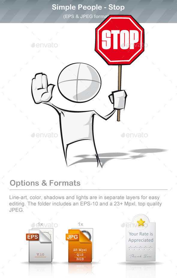 GraphicRiver Simple People Stop 8895422