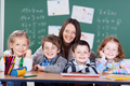 School portrait of a teacher with her students - PhotoDune Item for Sale