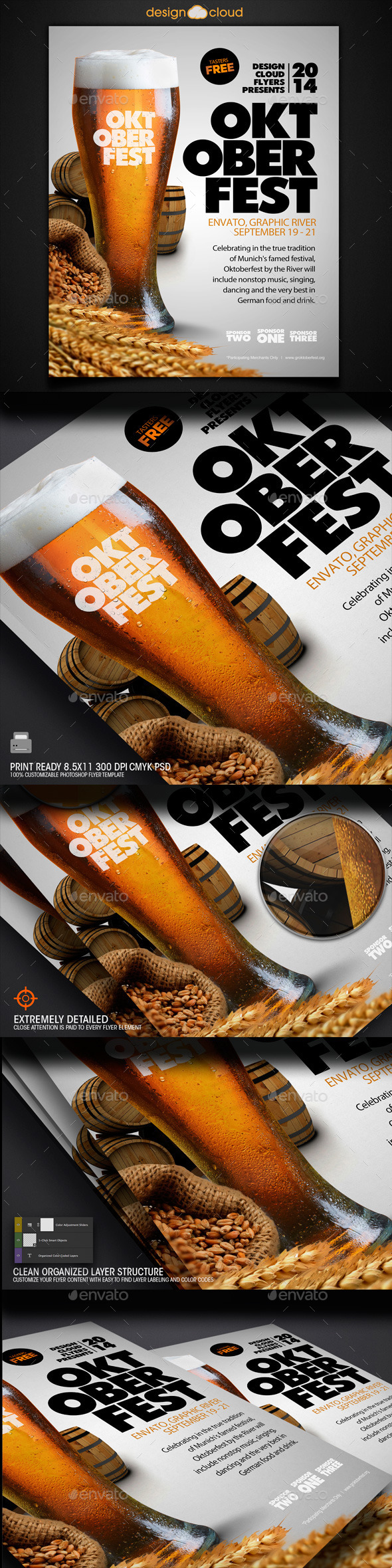 GraphicRiver Oktoberfest Event Flyer Template 8895726