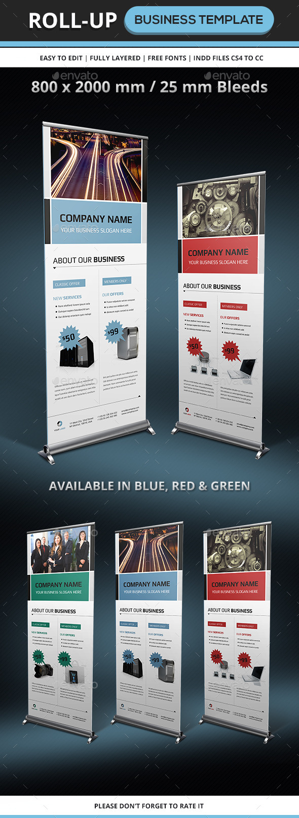 GraphicRiver Corporate & Business Rollup Template 8895823