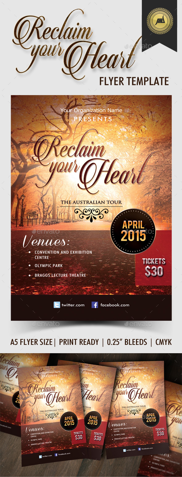GraphicRiver Reclaim Your Heart Flyer Template 8895830