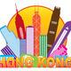 Hong Kong City Skyline Circle Color Illustration - PhotoDune Item for Sale