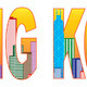Hong Kong City Skyline Color Text Illustration - PhotoDune Item for Sale