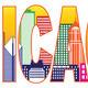 Chicago City Skyline Color Text Illustration - PhotoDune Item for Sale