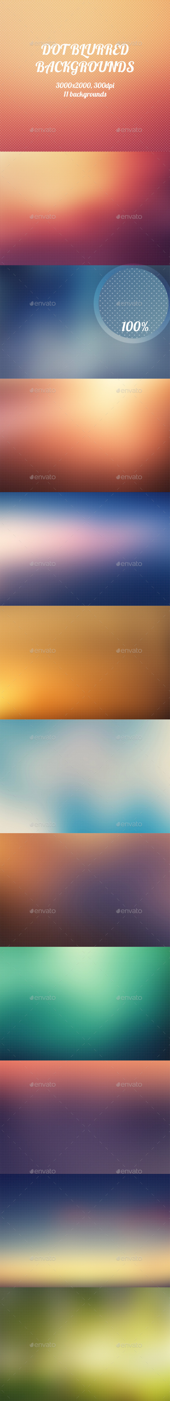 GraphicRiver Dot Blurred Backgrounds 8895959