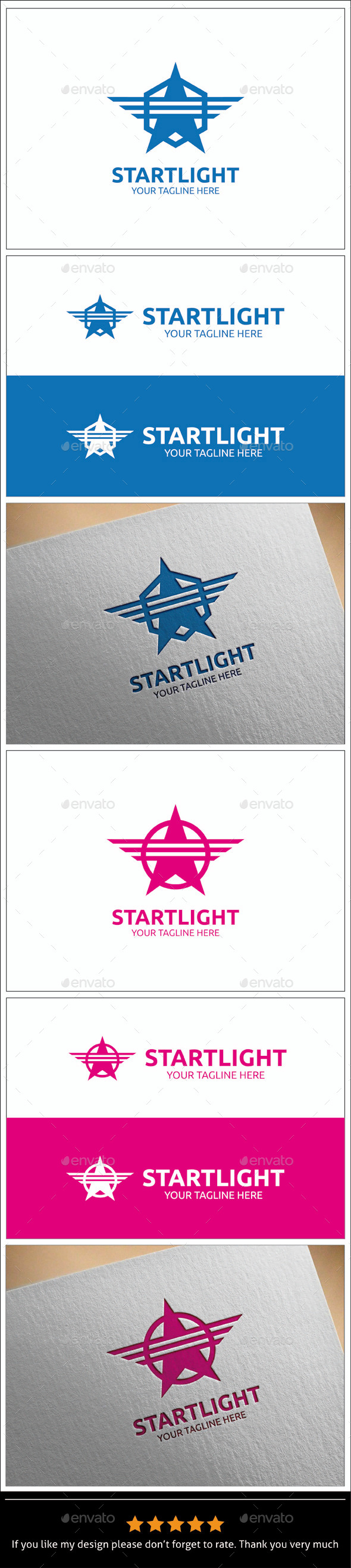GraphicRiver Startlight Logo Templates 8896089