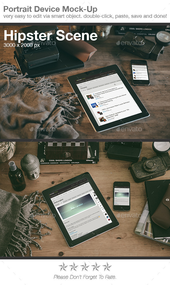 GraphicRiver Hipster Scene Device Mock-Up 8896138