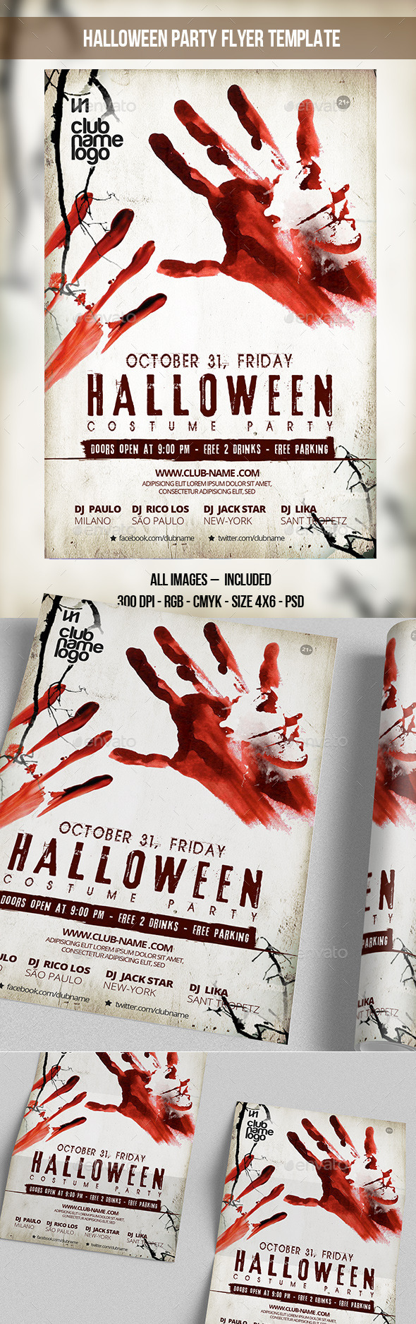 GraphicRiver Halloween Party Flyer Template 8896213