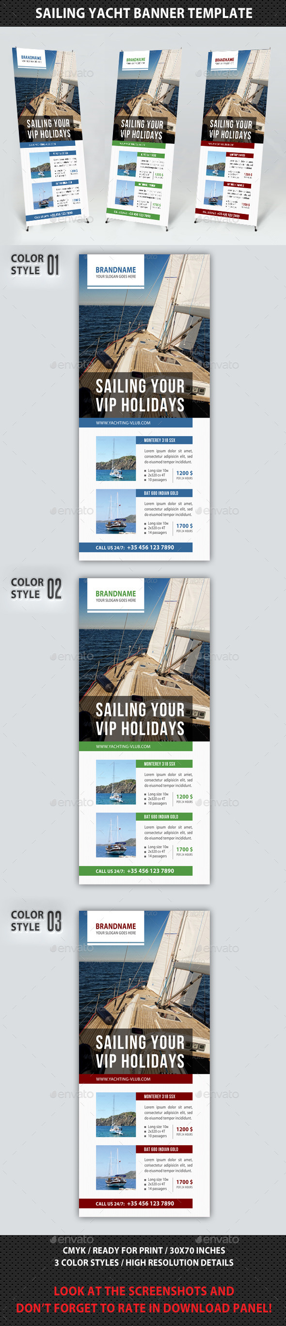 GraphicRiver Sailing Yacht Banner Template 02 8896222
