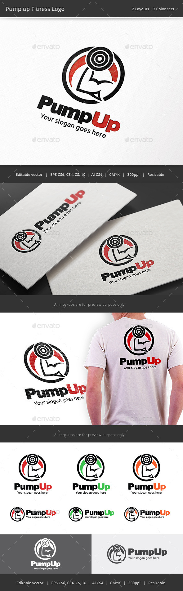 GraphicRiver Pump Up Fitness Logo 8896226