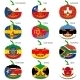 Set Pumpkins for Halloween as a Flags of the World - GraphicRiver Item for Sale