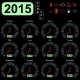 2015 Year Calendar Speedometer Car in Vector. - GraphicRiver Item for Sale