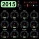 2015 Year Calendar Speedometer Car in Vector.