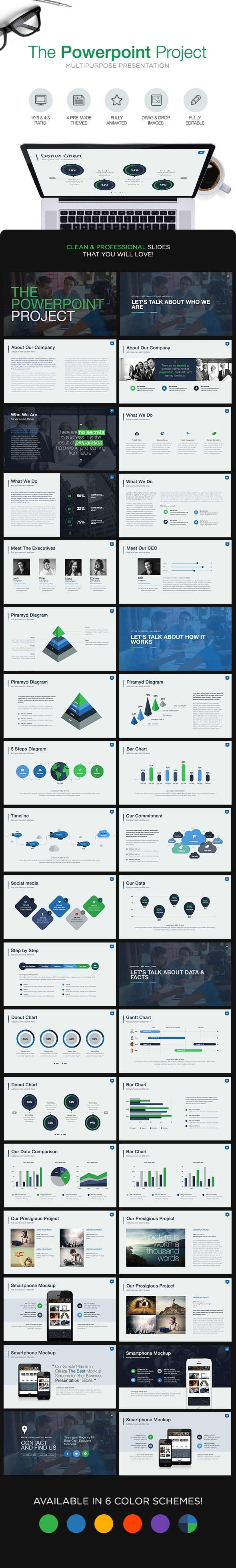 GraphicRiver The Powerpoint Project Powerpoint Template 8896235