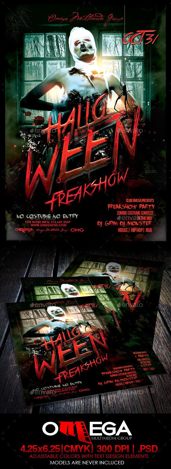 GraphicRiver Halloween Freakshow 8896270