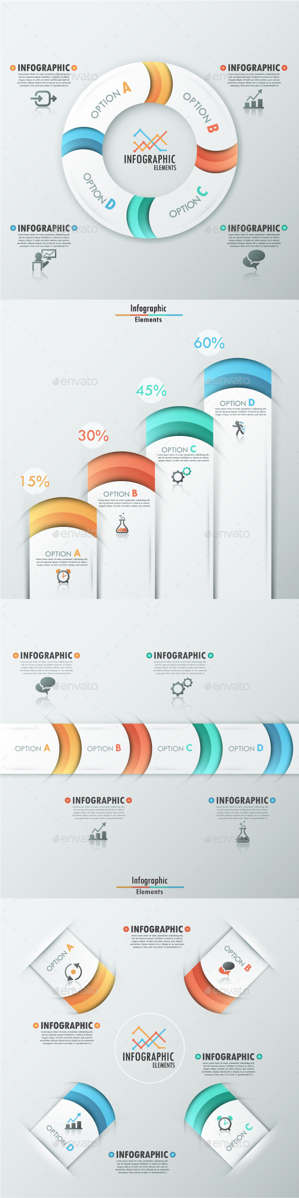 GraphicRiver Set of 4 Modern Infographic Templates 8896300